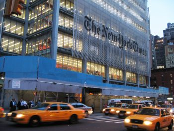 The New York Times Building - 8th Avenue between 40th and 41st Streets